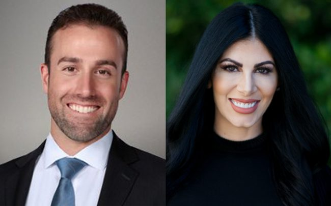 JohnHart Real Estate's John J. Maseredjian and Active Realty's Suzanne Seini