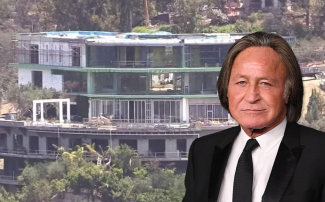 Mohamed Hadid in front of the mansion a judge has ordered demolished Category residential real estate (Credit: Getty Images)