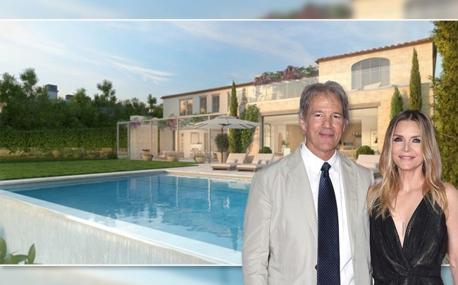 Michelle Pfeiffer and David E. Kelley purchase $22.5M Pacific Palisades home (Credit: Compass and Getty Images)