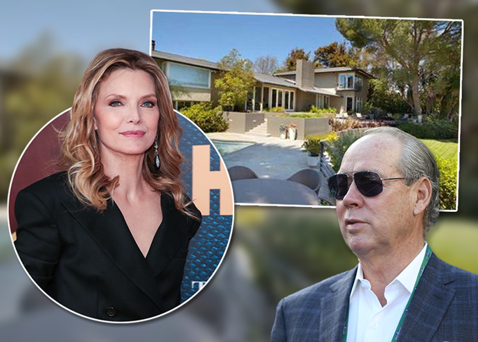 Michelle Pfeiffer, Jim Crane and the home (Credit: Getty Images and Zillow)
