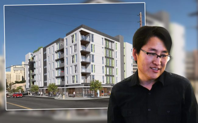 Architect Simon Park and a rendering of the project (Credit: SSPSTUDIO ARCHITECTURE & URBAN DESIGN)