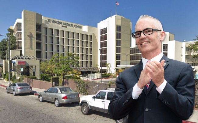 Mitch O'Farrell wants this hospital to become housing (Credit: Google Maps and Getty Images)