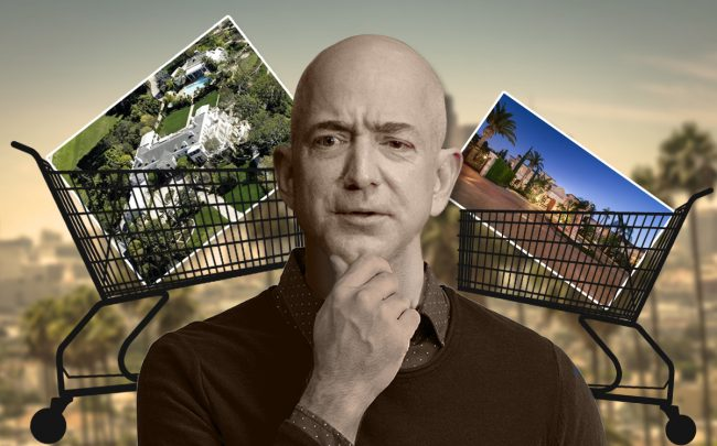 Jeff Bezos with  Casa Encantada and Palazzo di Amore estate (Credit: Getty Images and iStock)