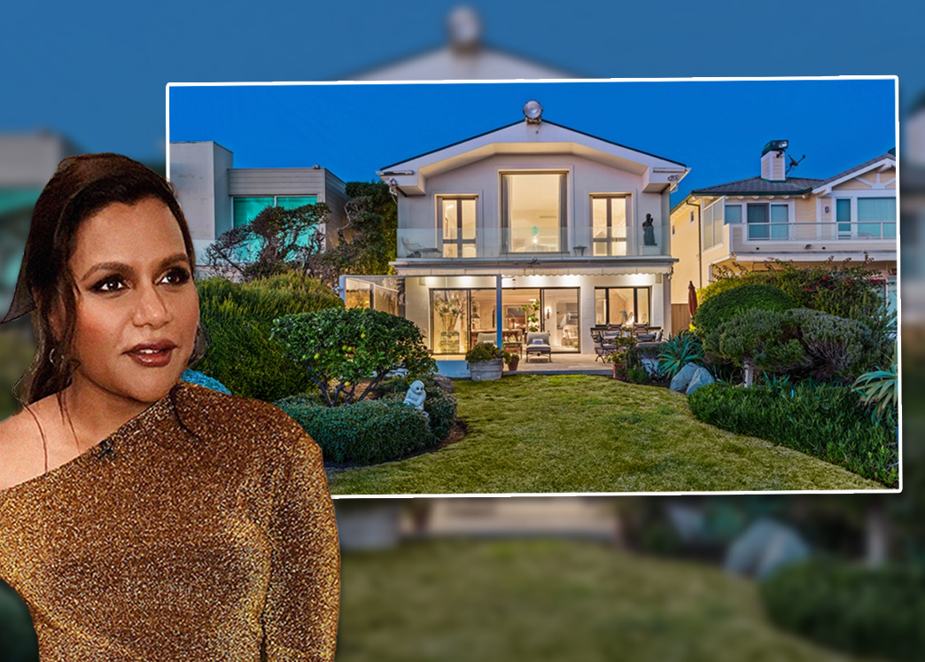 Mindy Kaling and her new oceanfront home in Malibu (Credit: Mike Helfrich and MindyAsst/Wikipedia)