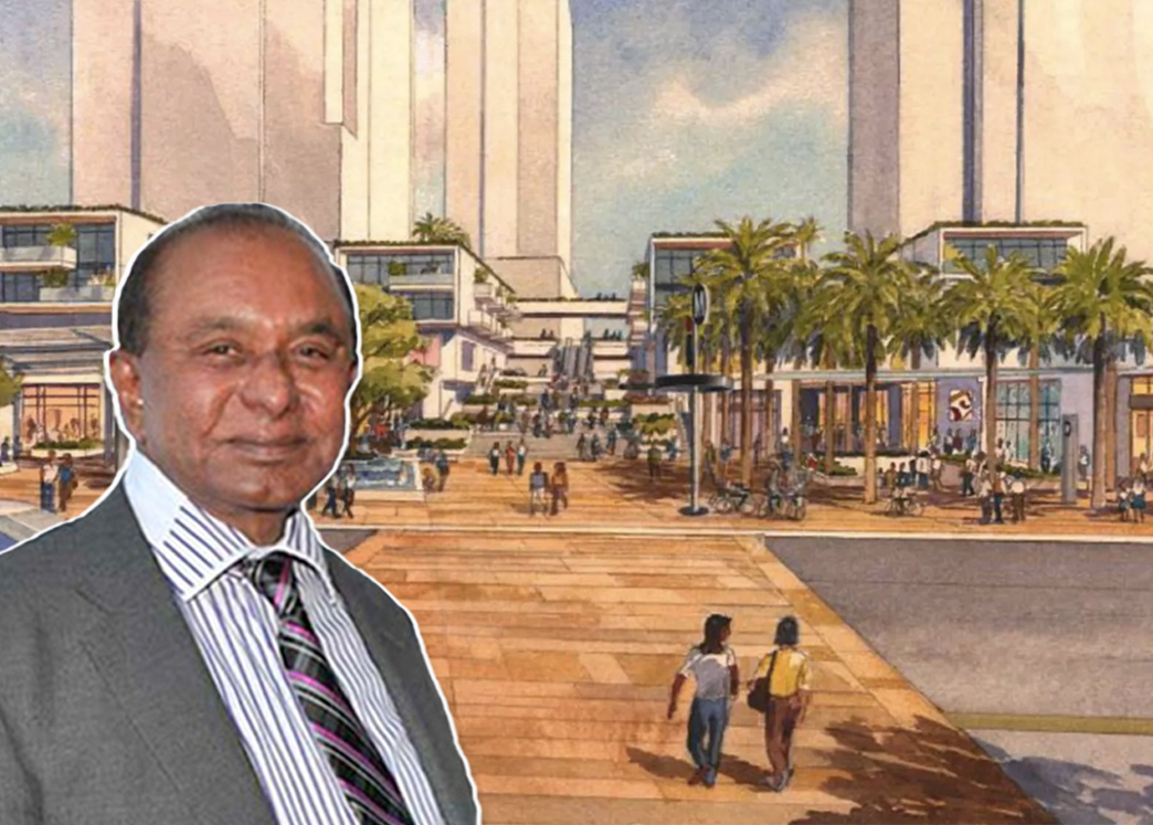 Dr. Jayasinghe and a rendering of the project (Credit: Metro via Curbed)