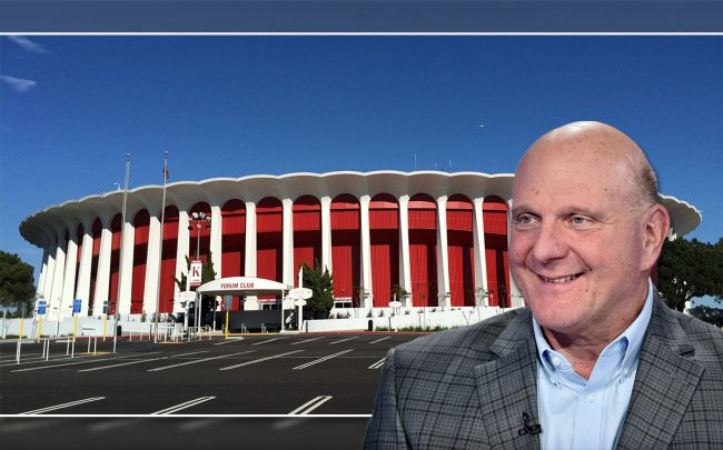 Steve Ballmer and the Forum (Credit: Ritapepaj/Wikipedia, and Steven Ferdman/Getty Images)