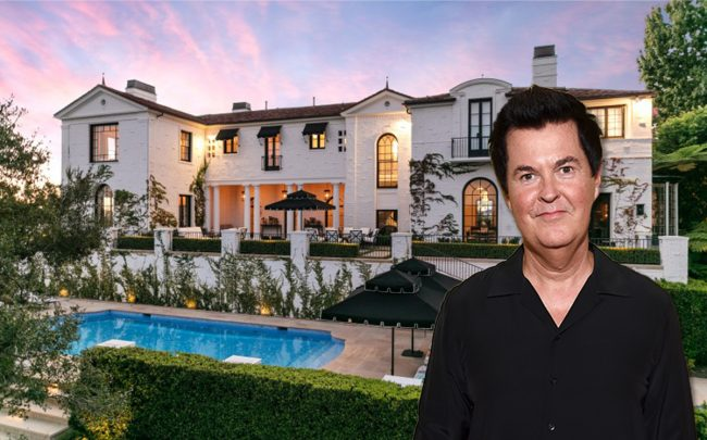 Simon Fuller and the home (Credit: Michael Kovac/Getty Images, and LAT/MLS)