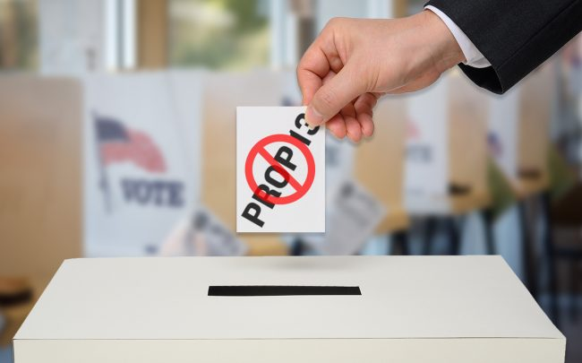Voters look set to reject California's Prop 13