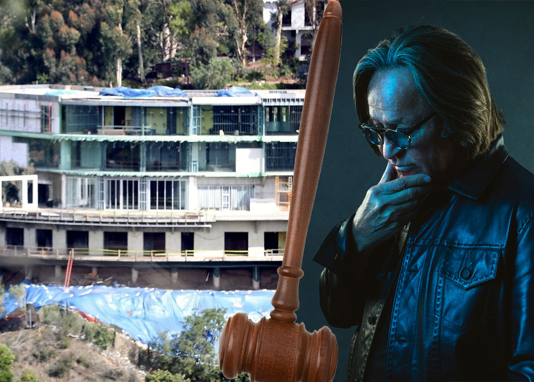 Mohamed Hadid and the mansion (Credit: Kevin Scanlon)
