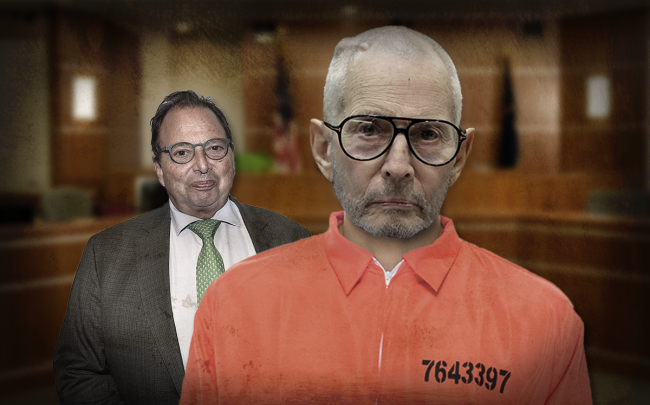 Robert Durst (right), and his brother Douglas Durst, chairman of Durst Organization (left) (Credit: Jae C. Hong-Pool\Getty Images, and Patrick McMullan/Patrick McMullan via Getty Images)