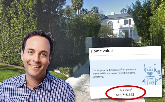 Spencer Rascoff and the property (Credit: Twitter, Zillow, and Google Maps)