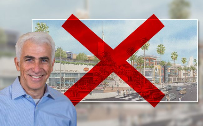 Shaul Kuba and the now-former redevelopment plan (Credit: Department of City Planning)