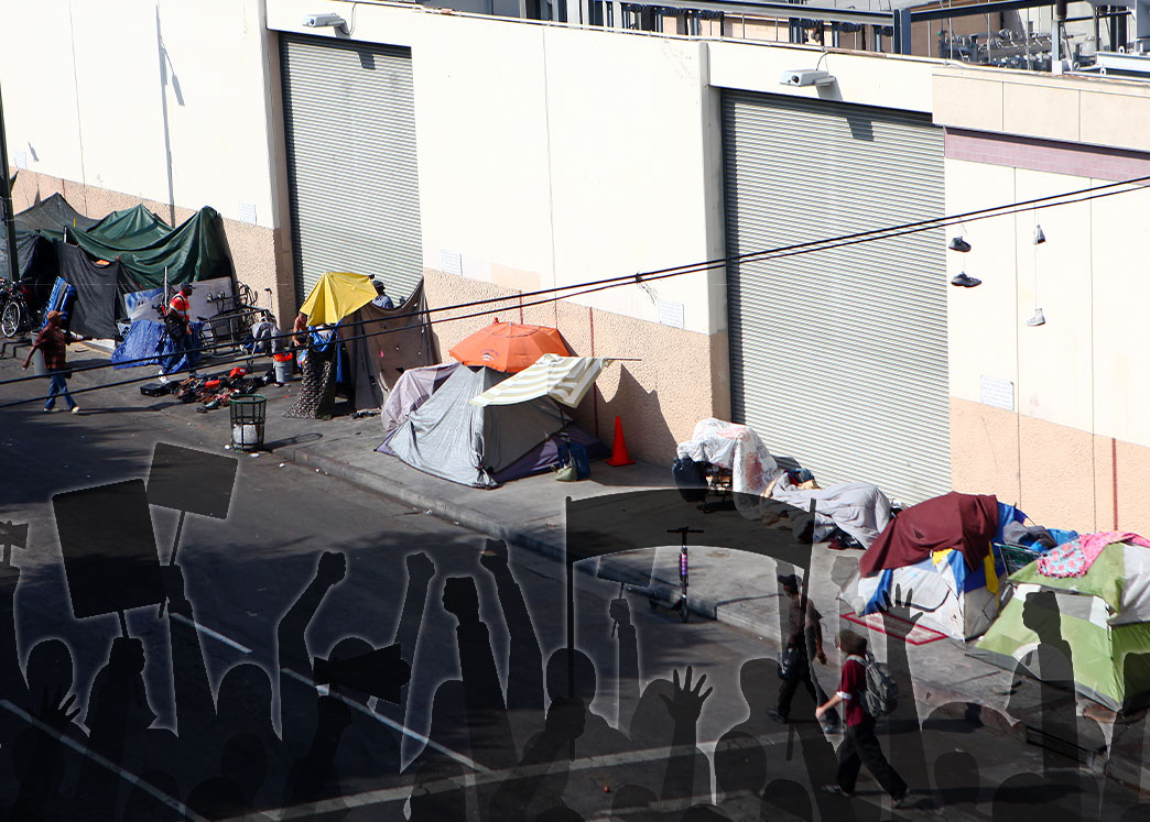 A homeless tent encampment in Skid Row (Credit: Mario Tama/Getty Images)