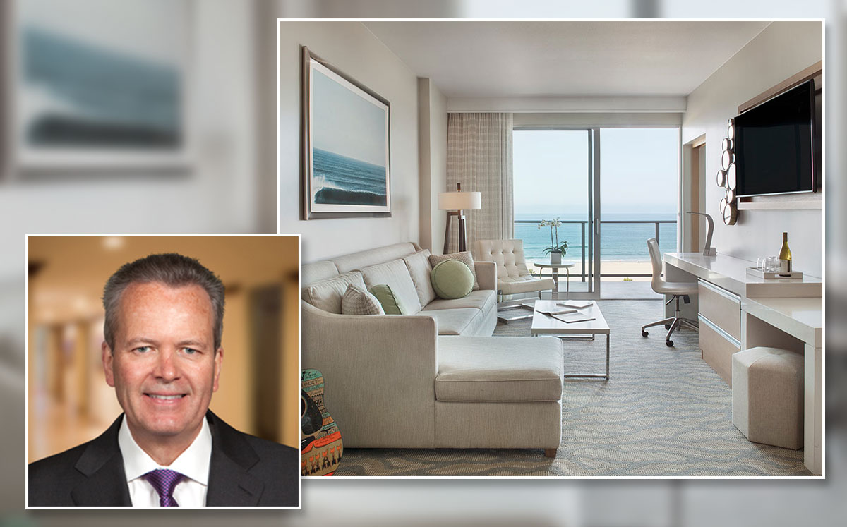 Pacific Hospitality Group CEO Tim Busch and a Zen Room at Huntington Beach's Pasea Hotel and Spa