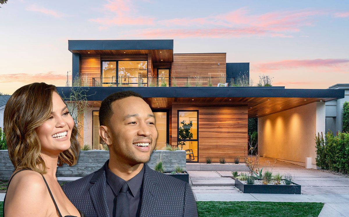 Chrissy Teigen and John Legend with the home (Credit: Charley Gallay/Getty Images)