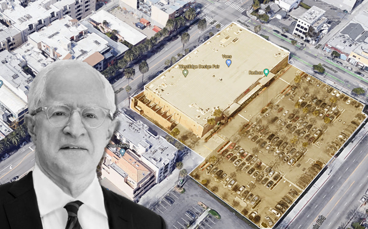 Related California CEO William Witte and the project site (Credit: Google Maps)