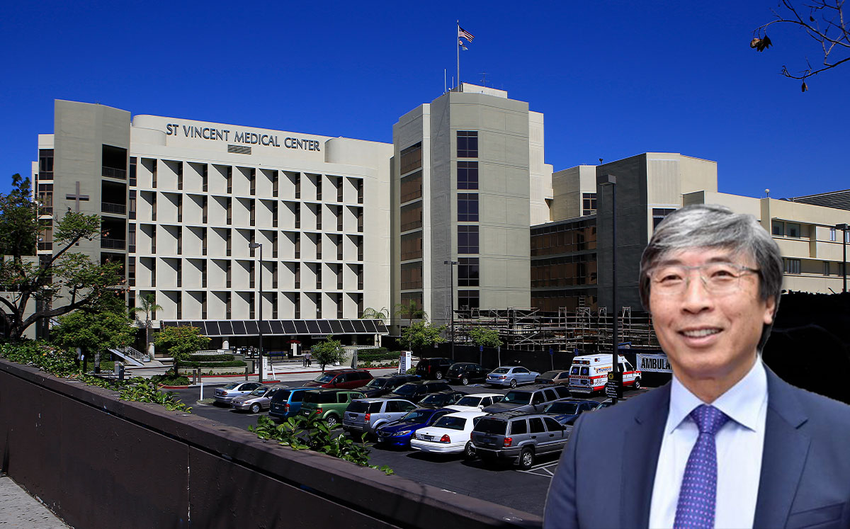 Dr. Patrick Soon-Shiong and St. Vincent Medical Center (Credit: Brian van der Brug/Los Angeles Times via Getty Images)