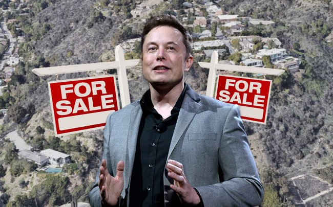 Elon Musk and the properties (Credit: Kevork Djansezian/Getty Images, and Google Maps)