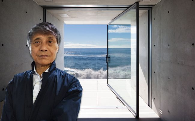 Japanese architect Tadao Ando and the home (Credit: AZUHIRO NOGI/AFP via Getty Images)