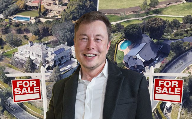 Elon Musk and the two homes (Credit: Google Maps and Jörg Carstensen/picture alliance via Getty Images)