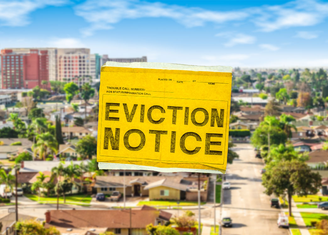 Orange County becomes the first Southern California jurisdiction to restart pre-shutdown eviction orders. (Credit: iStock)