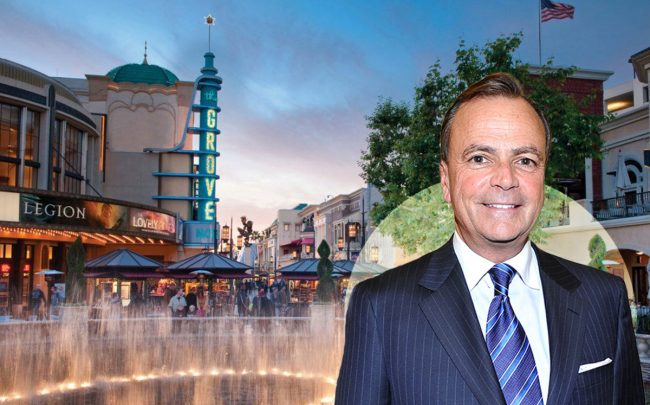 Rick Caruso, the Grove mall (Credit: Donato Sardella/Getty Images, and CARUSO)