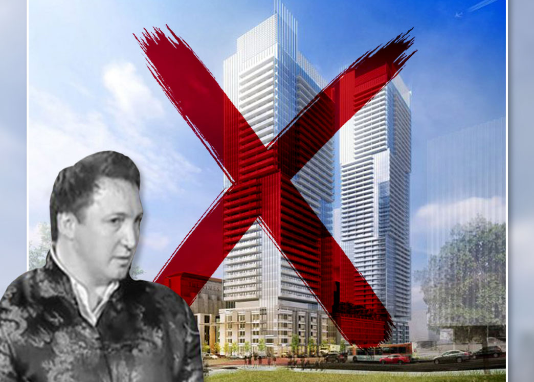 Onni Group's Rossano DeCotiis and a rendering of the project