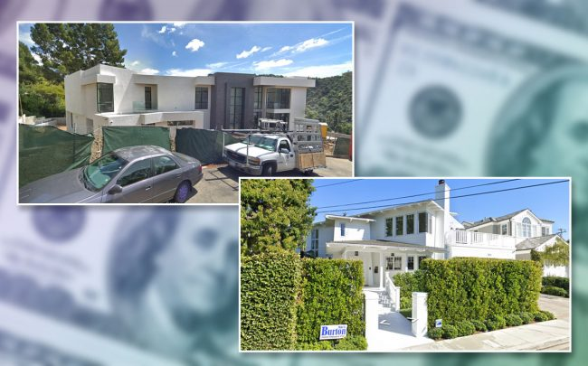 Two of the five five priciest residential sales in Los Angeles County last week (Credit: Google Maps)