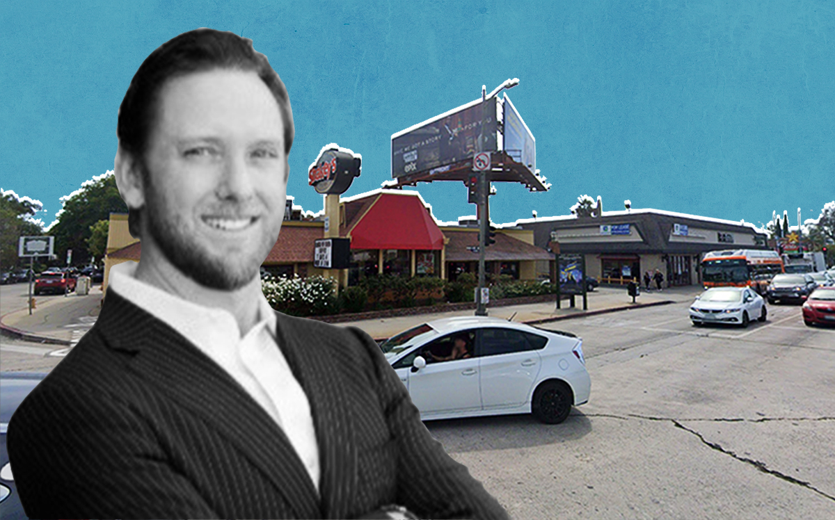 Jacmar Companies CEO John Tilley and the property (Google Maps)