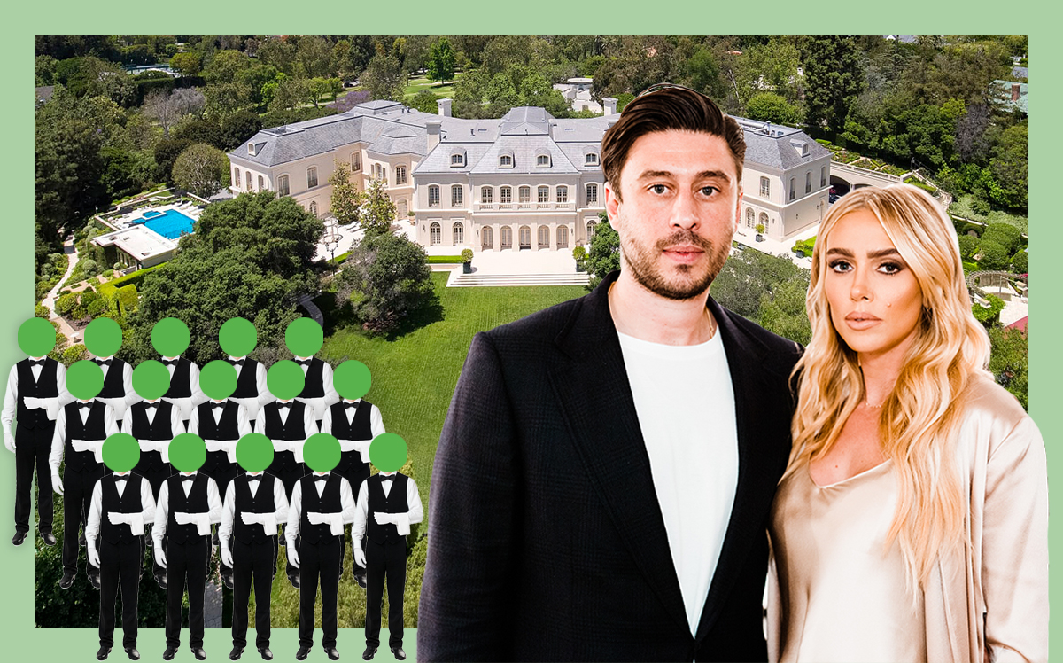 Spelling Manor with Sam Palmer and Petra Ecclestone (Hilton & Hyland, Getty, iStock)
