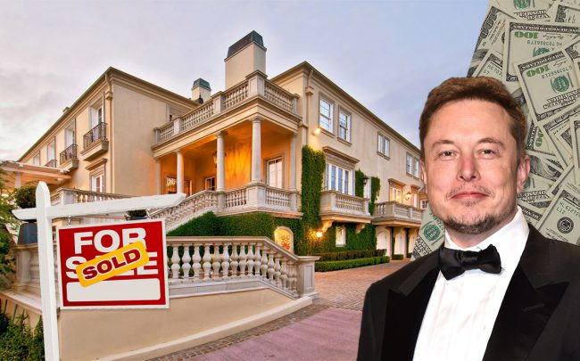 Elon Musk and the home (Credit: Pascal Le Segretain/Getty Images and Sotheby's via Money.com)