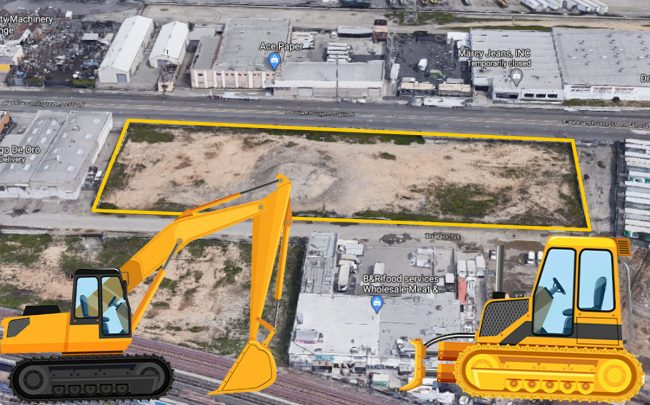 The development site at 2830-2900 E. Washington Boulevard (Credit: Google Maps)