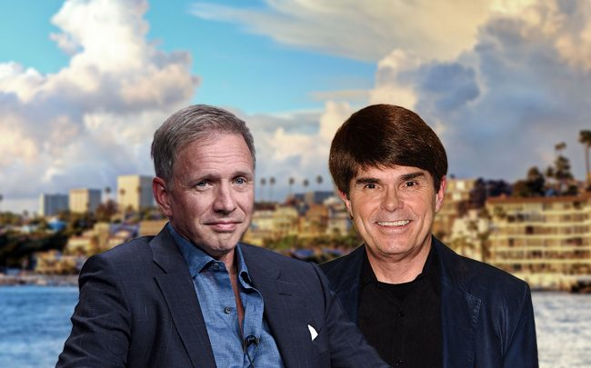 Glenn Stearns and Dean Koontz (Credit: Amanda Edwards and Jason LaVeris/FilmMagic, via Getty Images)