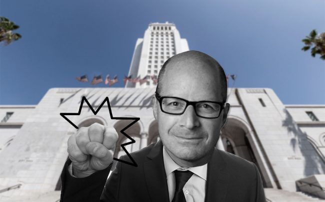 Daniel Yukelson of Apartment Association of Greater L.A. and L.A. City hall (Credit: iStock)