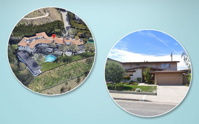 Two of the priciest home sales last week (Credit: Google Maps)