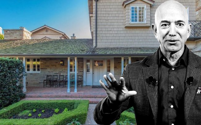 Jeff Bezos and the Beverly Hills home (Getty, Realtor)
