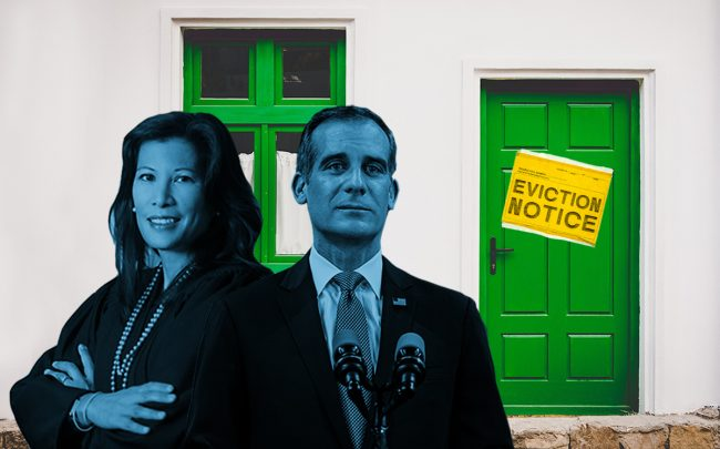 Tani Cantil-Sakauye and Mayor Eric Garcetti (Getty, UC Davis School of Law, iStock)