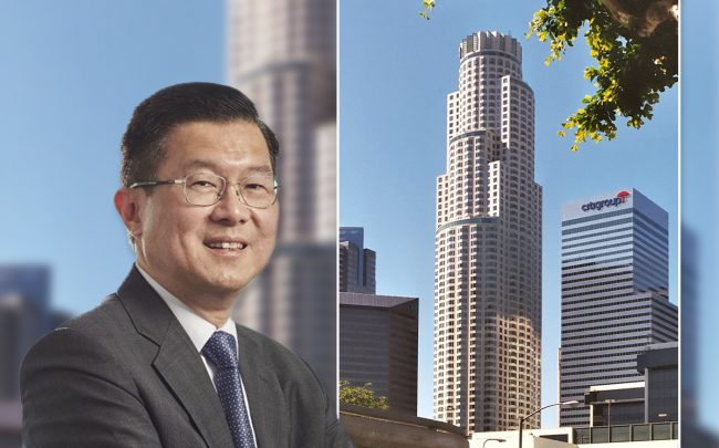 OUE Limited executive chairman and CEO Stephen Riady and the US Bank Tower (Credit: Wikipedia)