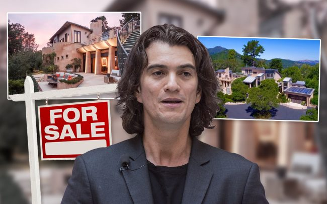 Adam Neumann and the home (Credit: Jackal Pan/Visual China Group via Getty Images and Zillow)
