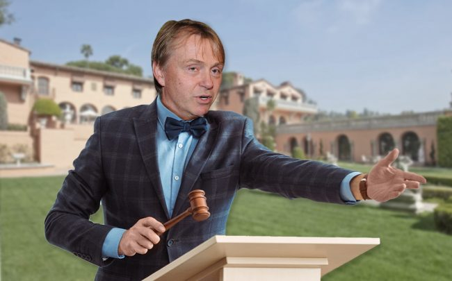 An illustration of Fortress Investment Group CEO Wesley Edens (Credit: Craig Barritt/Getty Images, and Zillow)