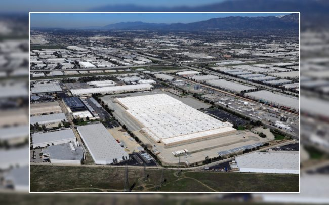 Aerial of inland empire industrial areas (Credit: CBRE via OBSERVER MEDIA)