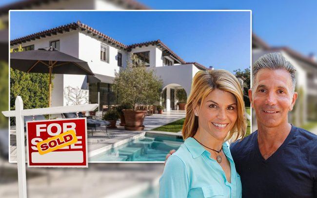 Lori Loughlin and husband Mossimo Giannulli sold their 12,000-square-foot Bel Air mansion (Credit: Donato Sardella/WireImage via Getty Images and Realtor.com via Dirt.com)