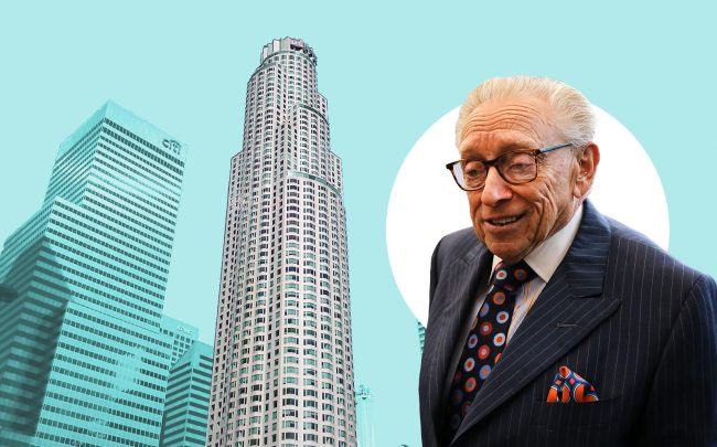 US Bank Tower at 633 West Fifth Street and Silverstein Properties' Larry Silverstein (Getty, Wikipedia Commons)