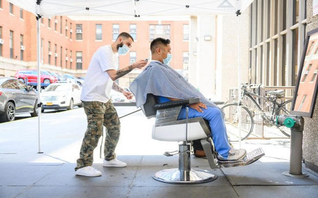 California is allowing barbershops and salons to reopen under new coronavirus mitigation guidelines (Credit: Noam Galai/Getty Images)