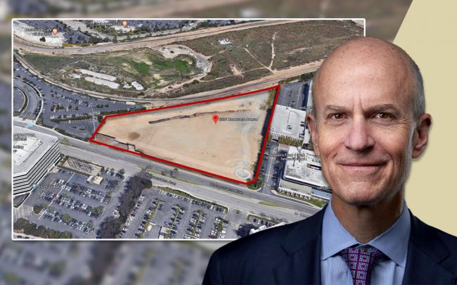 Boston Properties CEO Owen D. Thomas and the project site (Credit: Google Maps)