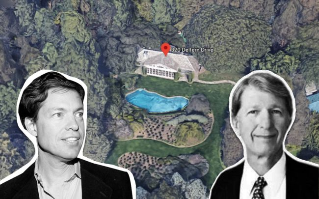 Nicolas Berggruen, Gary L. Wilson, and the property (Credit: Google Maps and Patrick McMullan via Getty Images)