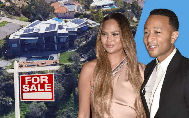 Chrissy Teigen and John Legend with the home (Credit: David Crotty/Getty Images)