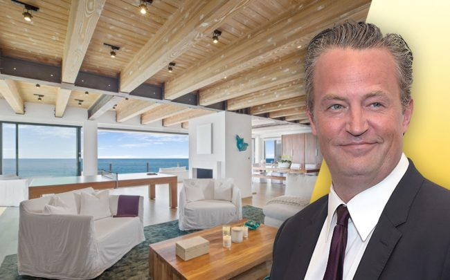 Matthew Perry and the home (Credit: Jason Kempin/Getty Images, and Redfin via Variety)