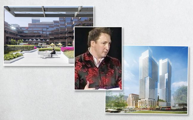 Wilshire Courtyard, Onni CEO Rossan De Cotitiis, and Times Mirror square (Credit: Onni Group)