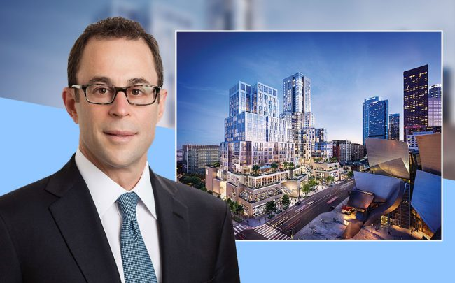 CEO of Related Companies Jeff T. Blau, and a rendering of the project (Credit: Related)
